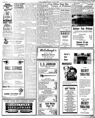 The Algona Upper Des Moines from Algona, Iowa on November 5, 1946 · Page 6