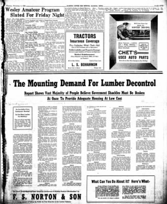 The Algona Upper Des Moines from Algona, Iowa on November 5, 1946 · Page 13