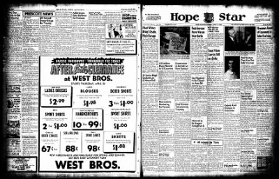 Hope Star from Hope, Arkansas on April 14, 1955 · Page 1