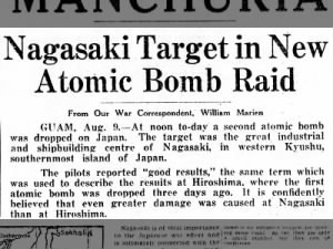 Nagasaki, Japan targeted in new atomic bomb raid