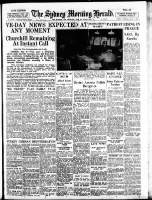 The Sydney Morning Herald from Sydney, New South Wales, Australia on May 7, 1945 · Page 1