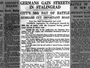 30 days into battle Hitler's army gains streets in Stalingrad