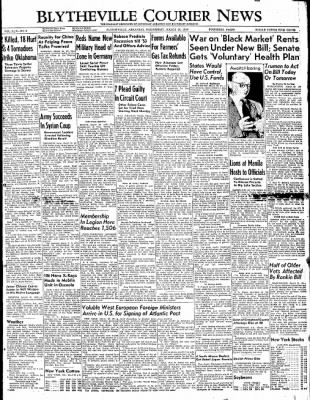 The Courier News from Blytheville, Arkansas on March 30, 1949 · Page 1
