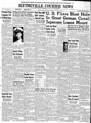 The Courier News from Blytheville, Arkansas on October 31, 1944 · Page 1