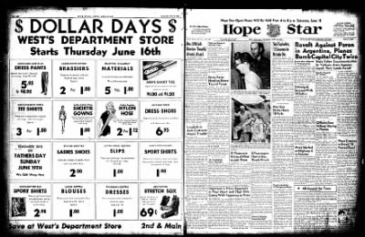 Hope Star from Hope, Arkansas on June 16, 1955 · Page 1