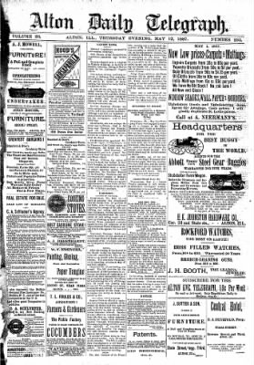 Alton Evening Telegraph from Alton, Illinois on May 12, 1887 · Page 1