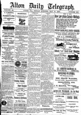 Alton Evening Telegraph from Alton, Illinois on May 13, 1887 · Page 1