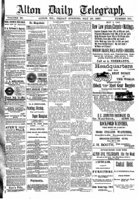 Alton Evening Telegraph from Alton, Illinois on May 20, 1887 · Page 1
