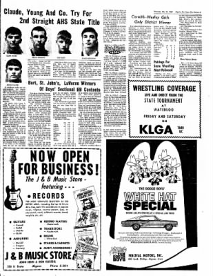 The Algona Upper Des Moines from Algona, Iowa on February 23, 1967 · Page 6