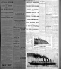 Australian newspaper announces sinking of Lusitania by German submarine