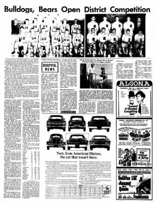 The Algona Upper Des Moines from Algona, Iowa on February 23, 1967 · Page 22