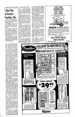 The Algona Upper Des Moines from Algona, Iowa on March 30, 1967 · Page 15