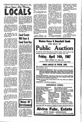 The Algona Upper Des Moines from Algona, Iowa on April 11, 1967 · Page 7