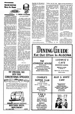 The Algona Upper Des Moines from Algona, Iowa on April 25, 1967 · Page 7