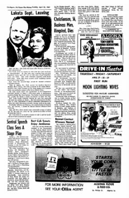 The Algona Upper Des Moines from Algona, Iowa on April 25, 1967 · Page 14