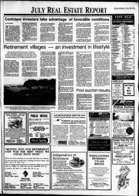 The Age from Melbourne, Victoria, Australia on July 17, 1991