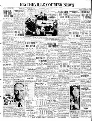 The Courier News from Blytheville, Arkansas on March 15, 1938 · Page 1