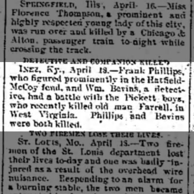 Phillips killed -