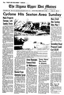 The Algona Upper Des Moines from Algona, Iowa on May 2, 1967 · Page 13
