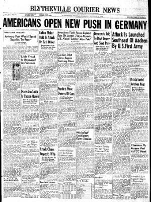 The Courier News from Blytheville, Arkansas on November 2, 1944 · Page 1