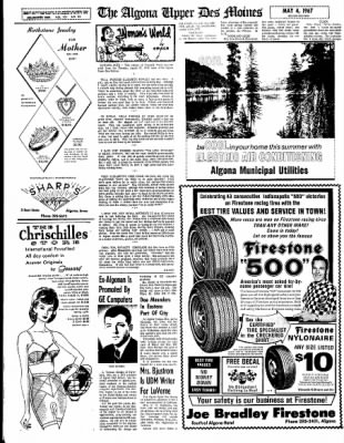 The Algona Upper Des Moines from Algona, Iowa on May 4, 1967 · Page 28