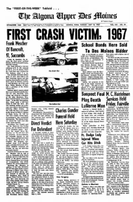 The Algona Upper Des Moines from Algona, Iowa on May 16, 1967 · Page 9