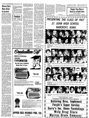 The Algona Upper Des Moines from Algona, Iowa on May 18, 1967 · Page 11