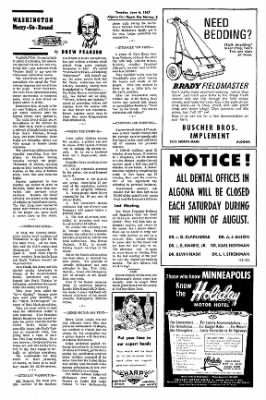 The Algona Upper Des Moines from Algona, Iowa on June 6, 1967 · Page 12