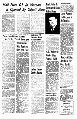 The Algona Upper Des Moines from Algona, Iowa on June 6, 1967 · Page 20