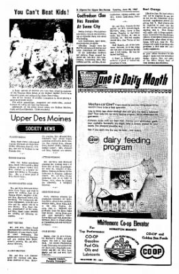 The Algona Upper Des Moines from Algona, Iowa on June 20, 1967 · Page 9