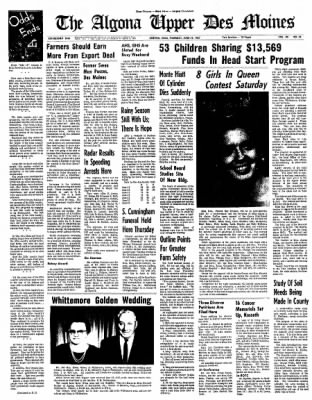The Algona Upper Des Moines from Algona, Iowa on June 22, 1967 · Page 15
