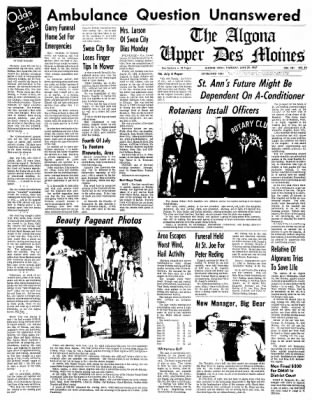 The Algona Upper Des Moines from Algona, Iowa on June 29, 1967 · Page 15