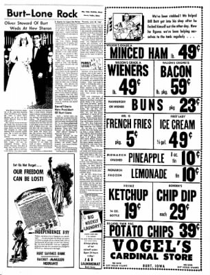 The Algona Upper Des Moines from Algona, Iowa on June 29, 1967 · Page 16