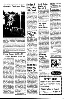 The Algona Upper Des Moines from Algona, Iowa on July 11, 1967 · Page 14
