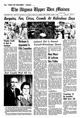 The Algona Upper Des Moines from Algona, Iowa on August 1, 1967 · Page 6
