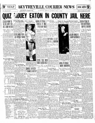 The Courier News from Blytheville, Arkansas on March 8, 1934 · Page 1