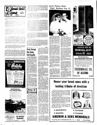The Algona Upper Des Moines from Algona, Iowa on August 31, 1967 · Page 12