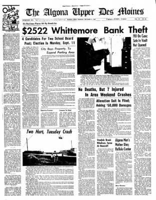 The Algona Upper Des Moines from Algona, Iowa on September 7, 1967 · Page 23