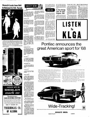 The Algona Upper Des Moines from Algona, Iowa on September 21, 1967 · Page 3