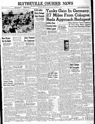 The Courier News from Blytheville, Arkansas on November 3, 1944 · Page 1