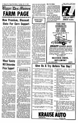 The Algona Upper Des Moines from Algona, Iowa on October 3, 1967 · Page 6