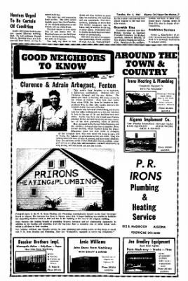 The Algona Upper Des Moines from Algona, Iowa on October 3, 1967 · Page 7