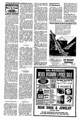 The Algona Upper Des Moines from Algona, Iowa on October 10, 1967 · Page 4