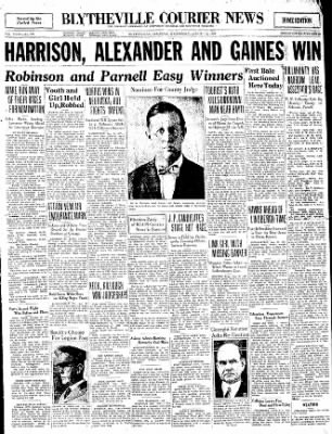 The Courier News from Blytheville, Arkansas on August 13, 1930 · Page 1