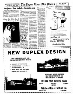 The Algona Upper Des Moines from Algona, Iowa on October 19, 1967 · Page 11