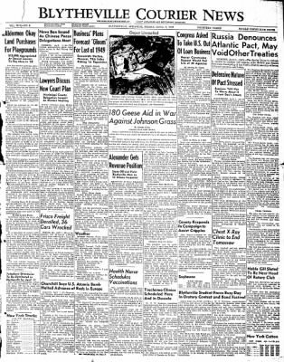 The Courier News from Blytheville, Arkansas on April 1, 1949 · Page 1
