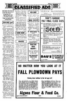 The Algona Upper Des Moines from Algona, Iowa on October 24, 1967 · Page 14