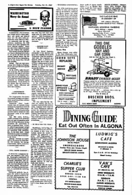 The Algona Upper Des Moines from Algona, Iowa on October 31, 1967 · Page 4