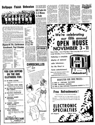The Algona Upper Des Moines from Algona, Iowa on November 2, 1967 · Page 12