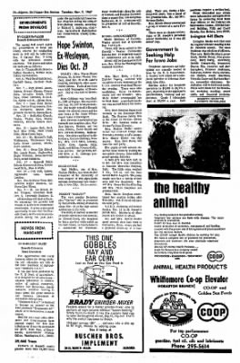 The Algona Upper Des Moines from Algona, Iowa on November 7, 1967 · Page 13
